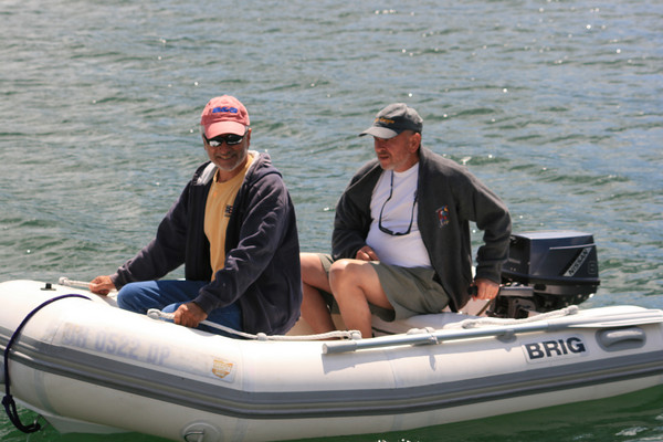Kip and Don in dinghy